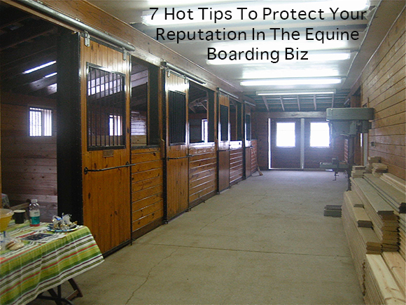 7 Hot Tips To Protect Your Reputation In The Equine Boarding Biz