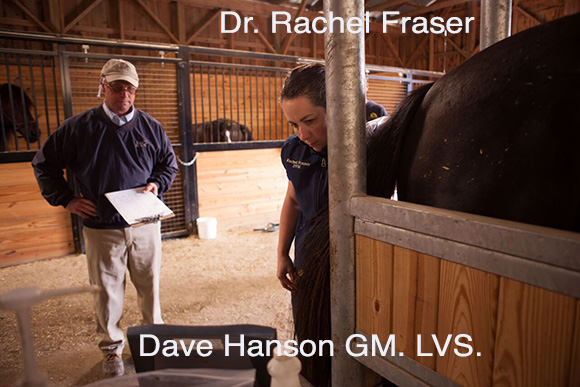 Dr. Rachel Fraser and Dave Hanson, GM. LVS.