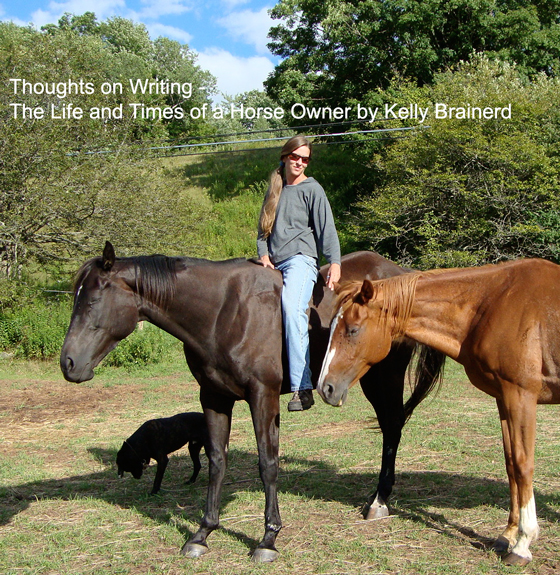 Thoughts on Writing – Life & Times of a Horse Owner by Kelly Brainerd